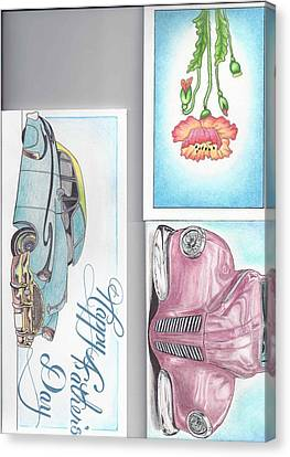 3 Different Cards Canvas Print by Jay Van