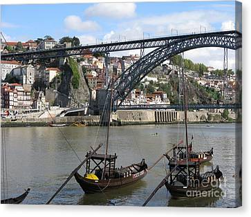 Canvas Print featuring the photograph Douro River by Arlene Carmel
