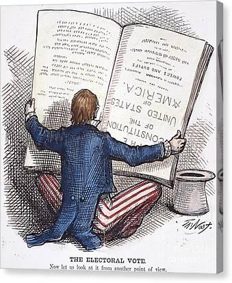 Election Cartoon, 1876 Canvas Print by Granger