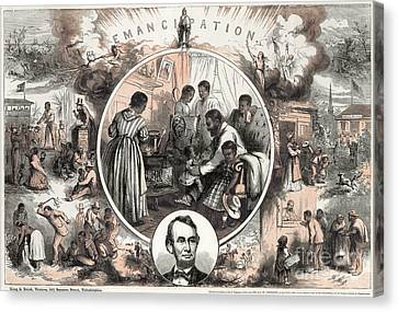 Emancipation Proclamation Canvas Print by Granger