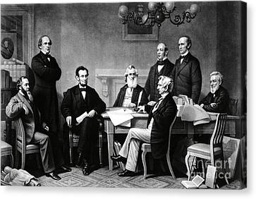 Emancipation Proclamation Canvas Print by Photo Researchers
