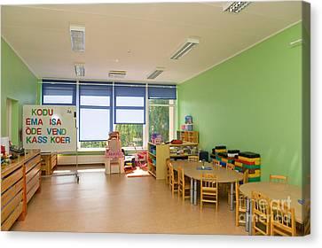 Empty Estonian Elementary Grade School Canvas Print by Jaak Nilson