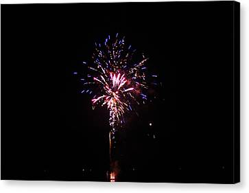 Fireworks Canvas Print by Robbie Basquez