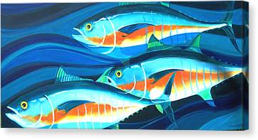 3 Fish School Canvas Print by Mark Jennings