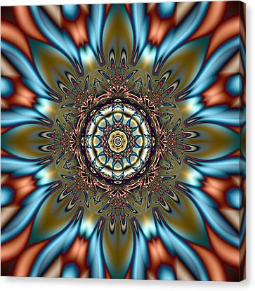Fractal Kaleidoscope Canvas Print by Gina Lee Manley