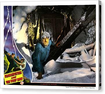Frankenstein Meets The Wolf Man, Main Canvas Print by Everett