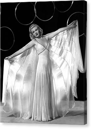 Ginger Rogers, In A Publicity Portrait Canvas Print by Everett