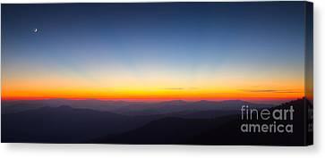 Great Smokie Mountains Sunset Canvas Print by Dustin K Ryan