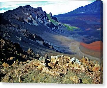 Haleakala Crater In Maui Hawaii Canvas Print by Sheila Kay McIntyre