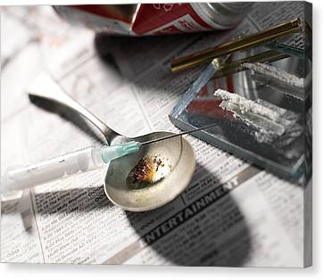 Risk Society Canvas Print - Heroin Abuse by Tek Image