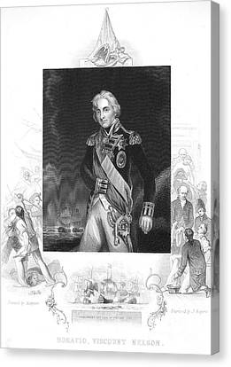 Lord Admiral Nelson Canvas Print - Horatio Nelson (1758-1805) by Granger