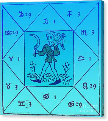 Horoscope Types, Engel, 1488 Canvas Print by Science Source