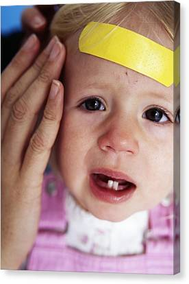 Injured Baby Girl Canvas Print