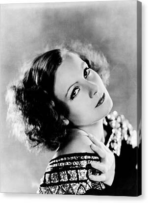 Inspiration, Greta Garbo, Portrait Canvas Print