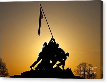 Bravery Canvas Print - Iwo Jima Memorial by Brian Jannsen