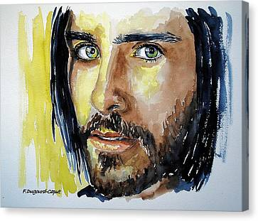 Jared Leto Canvas Print by Francoise Dugourd-Caput