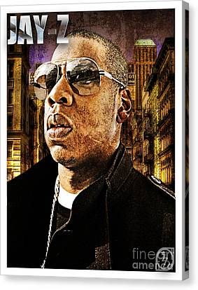 Jay Z Canvas Print by The DigArtisT