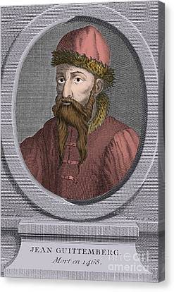 Colourized Canvas Print - Johannes Gutenberg, German Inventor by Science Source