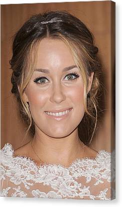 Lauren Conrad At In-store Appearance Canvas Print by Everett