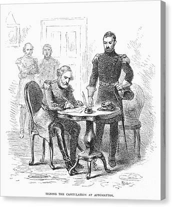 Lees Surrender, 1865 Canvas Print by Granger