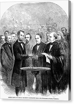 Lincolns Inauguration Canvas Print by Granger