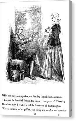 Longfellow: Standish, 1859 Canvas Print by Granger