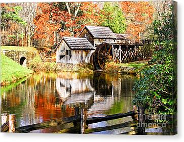 Mabry Mill Canvas Print by Ronald Lutz