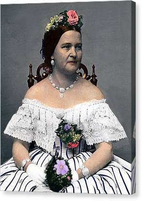 Mary Todd Lincoln 1818-1882, Wife Canvas Print by Everett