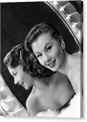 Mitzi Gaynor, Ca. Early 1950s Canvas Print by Everett