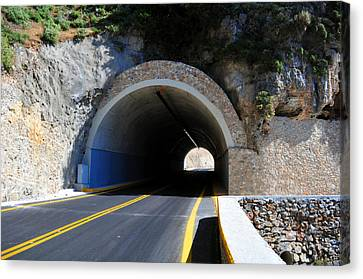 Mountain Tunnel. Canvas Print by Fernando Barozza