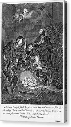 Nativity Canvas Print by Granger