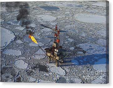 Offshore Oil Drilling Platform, Alaska Canvas Print