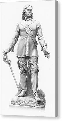 British Politicians Canvas Print - Oliver Cromwell, English Political by Photo Researchers