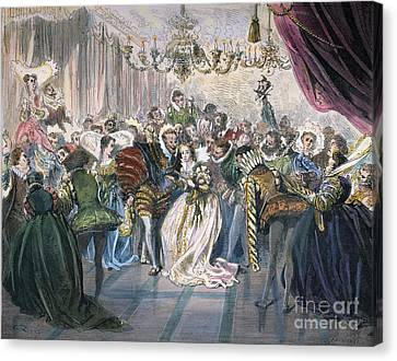 Ball Gown Canvas Print - Perrault: Cinderella, 1867 by Granger