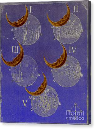 Phases Of An Eclipse Canvas Print by Science Source