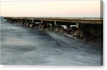 Pier Canvas Print by Falko Follert