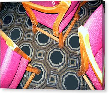 3 Pink Chairs                  Canvas Print