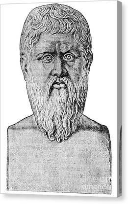 Plato, Ancient Greek Philosopher Canvas Print by Science Source