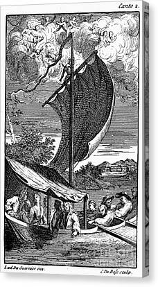 Pope: Rape Of The Lock Canvas Print by Granger