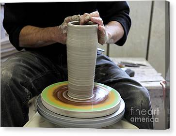 Pottery Wheel, Sequence Canvas Print by Ted Kinsman
