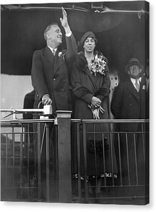 Americans Elect Canvas Print - President-elect Franklin Roosevelt by Everett