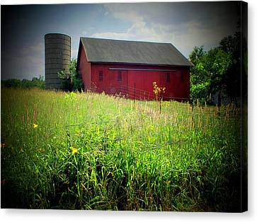 Red Barn Canvas Print by Michael L Kimble
