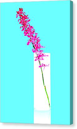 Red Orchid Bunch Canvas Print by Atiketta Sangasaeng