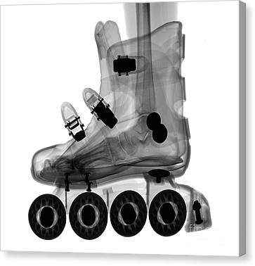 Rollerskate Canvas Print - Rollerblade Boot by Ted Kinsman