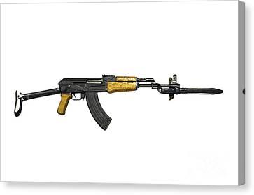 Ak-47 Canvas Print - Russian Ak-47 Assault Rifle by Andrew Chittock