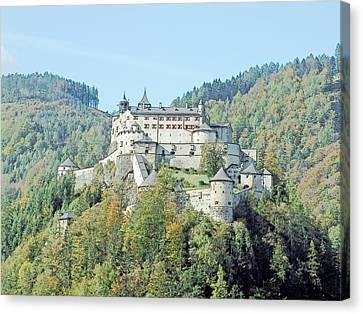 Schloss Hohenwerfen Werfen Austria  Canvas Print by Joseph Hendrix