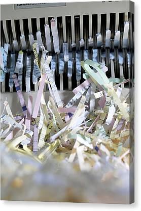 Shredded Paper Canvas Print by Tek Image