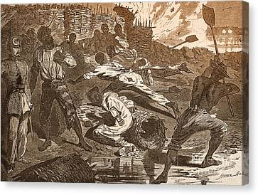 Siege Of Vicksburg, 1863 Canvas Print by Photo Researchers