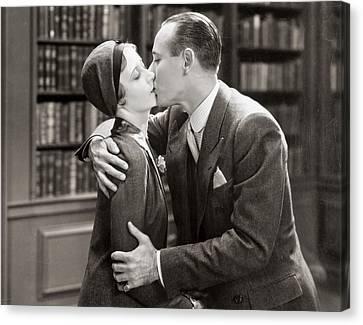 Aodng Canvas Print - Silent Film Still: Kissing by Granger