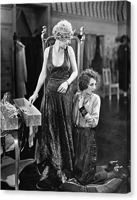 Silent Film Still: Sewing Canvas Print by Granger